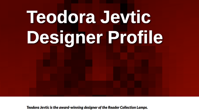 Good Designer Page for Teodora Jevtić