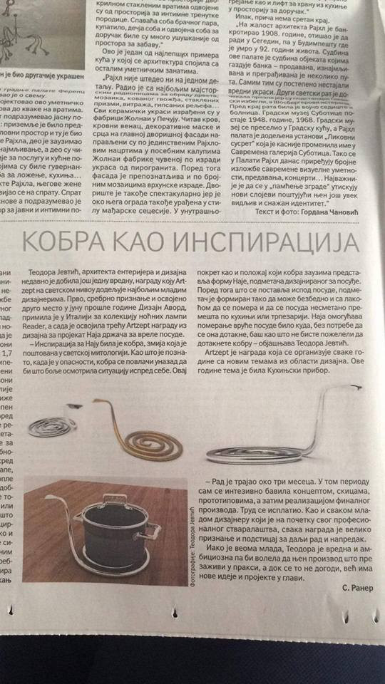 POLITIKA / MOJA KUĆA: COBRA AS AN INSPIRATION