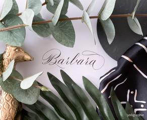 Namen kalligraphieren: Barbara