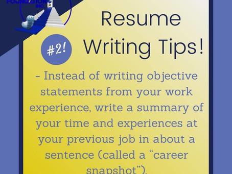 Resume Tip #2