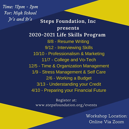 Steps Foundation Life Skills Program Dat