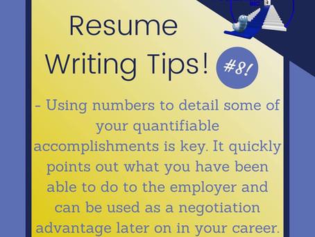 Resume Tip #8