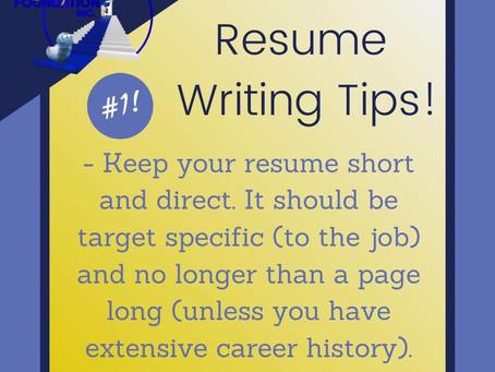 Resume Writing Tip #1
