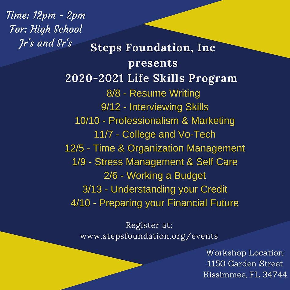 Steps Foundation Life Skills Program Dat
