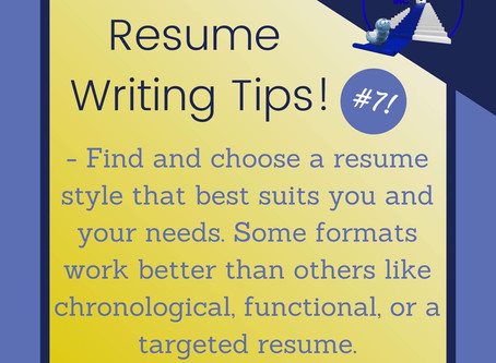 Resume Tip #7