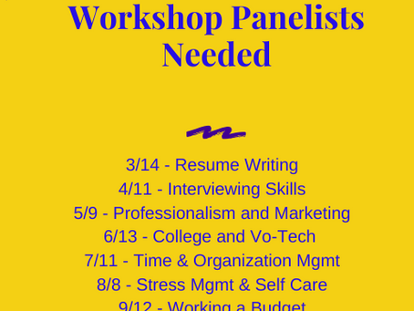 Workshop Panelists Needed