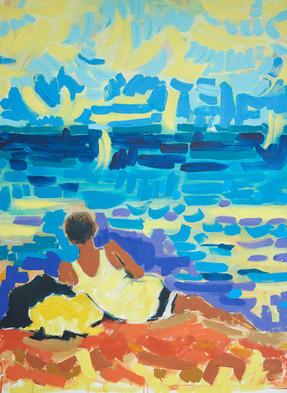 Pojat rannalla 2