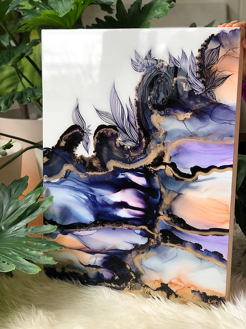 """""""The Potential Within"""" - resin alcohol ink painting"""