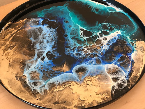 Alcohol Ink and Resin Tray