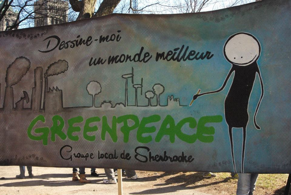 Groupe local de Greenpeace Sherbrooke - Bannière