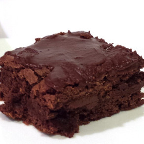 Homemade Brownies with Icing