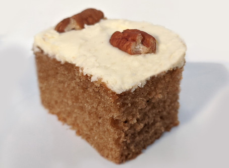 Chai Spice Cake with Cream Cheese Buttercream and Pecans
