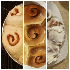 Beginner's Frosted Cinnamon Rolls