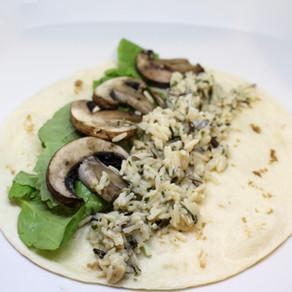 Mushroom and Wild Rice Wrap