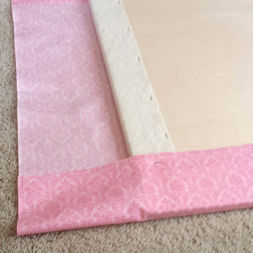 Wrap the fabric around