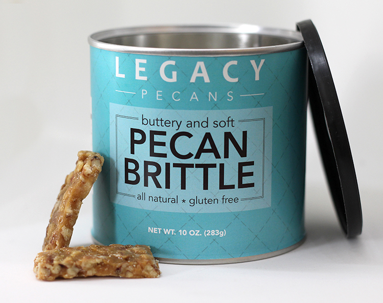 Pecan Brittle Label for Legacy Pecan