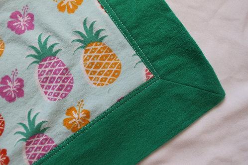 Pineapple Flannel Blanket