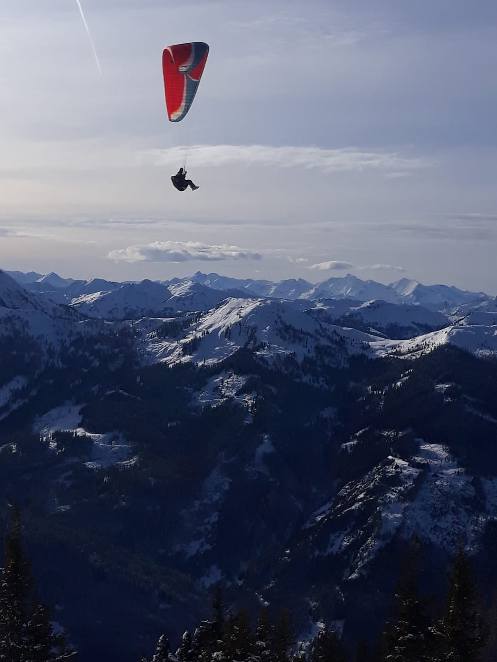 Paragliding in the Mountains - what a view!