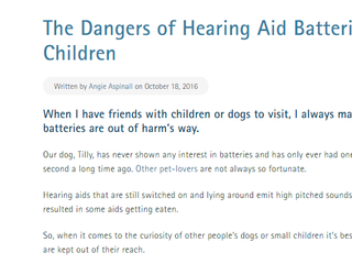 Dangers of hearing aid batteries for pets and babies