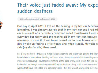 Their voice just faded away
