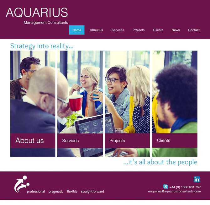 A new website for Aquarius Management Consultants