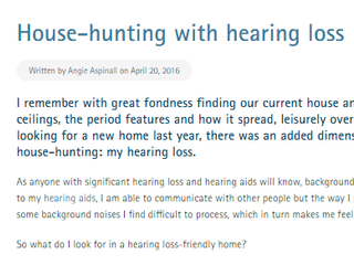 House-hunting with hearing loss