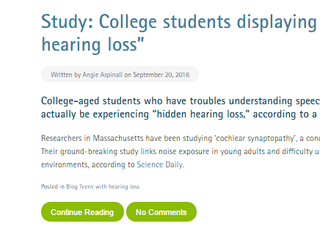 Hidden hearing loss