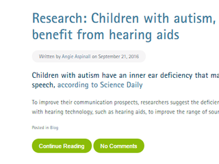 Autism, hearing loss, and hearing aids