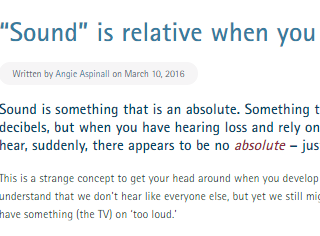 Sound - it's all relative