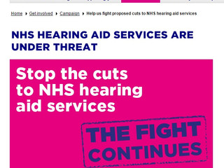 NHS Hearing aid services under threat
