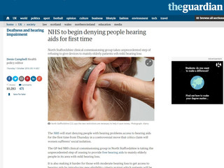 Hearing aids being rationed in the UK