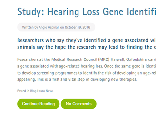 Researchers discover age-related hearing loss gene