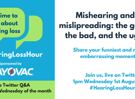 #HearingLossHour Questions - 1st August 2018