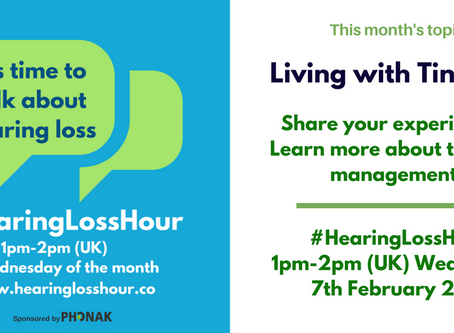 #HearingLossHour: Living with tinnitus