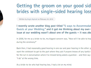 Brides & single-sided deafness