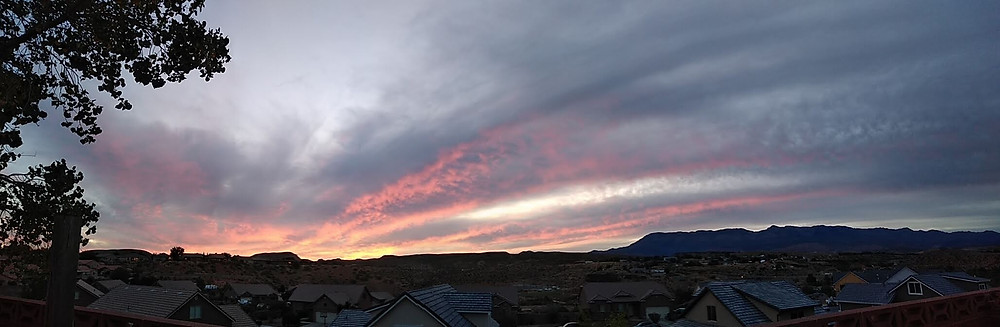 La Verkin, Utah, at sundown...