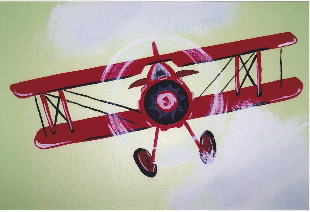 Vintage Planes, boy's room
