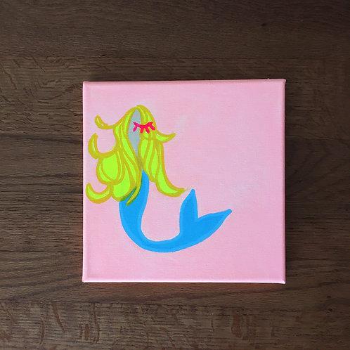 スペシャル【Original-原画】Mermaid in Peach + Private Message (プライベートメッセージ)