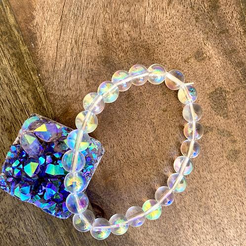 【Angel Aura Clear Quartz Bracelet】5mm
