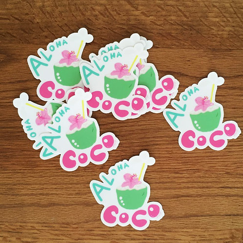 【Stickers】Coco Aloha