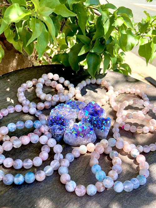 【Blue Flower Agate Bracelet】
