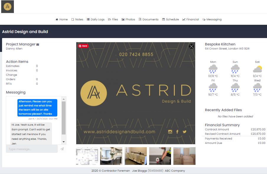 Client Portal Homepage