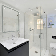 White Shower Room, London | Astrid Design and Build Ltd