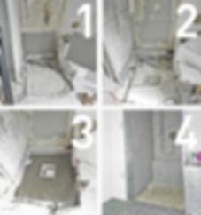 Umbau bodengleiche Dusche mit Plancofix