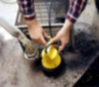 Jung Pumpen U5KS im überfluteten Keller