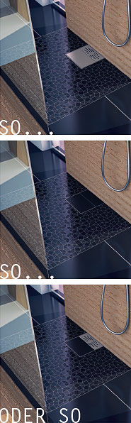 Plancofix Auswahl Dusche Boden