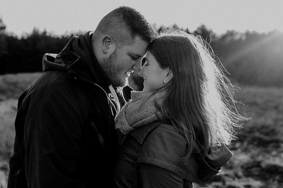 natürliche Paarfotografie. Authentische und emotionale Paarfotos.