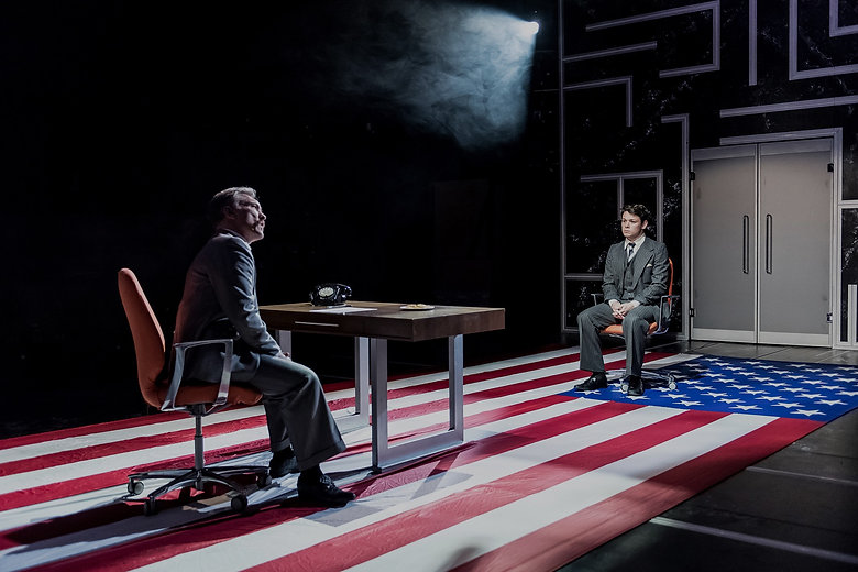 Sean Delaney and Martin McDougall in Beth Steel's Labyrinth at Hampstead Theatre