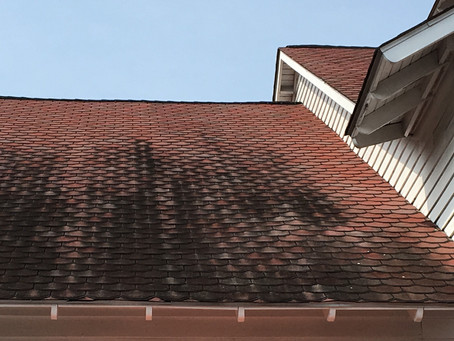 WHAT ARE THOSE BLACK STAINS ON MY ROOF