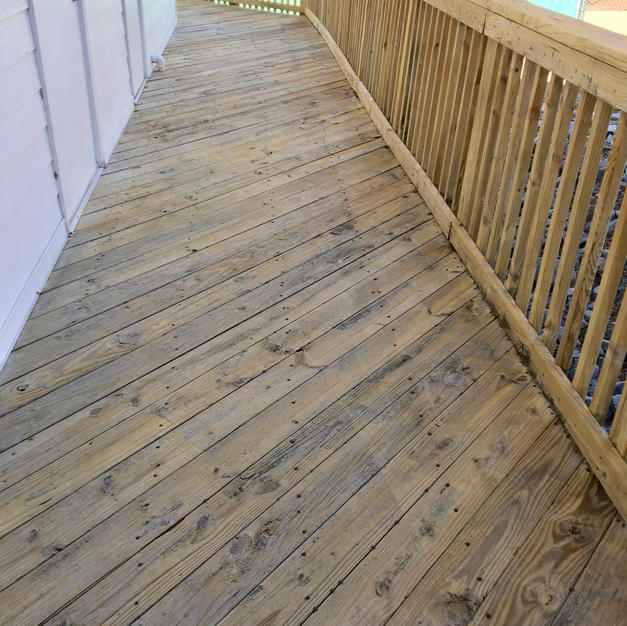 Commercial Wood Deck Cleaning